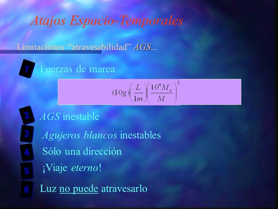 Atajos Espacio-Temporales AGS Limitaciones atravesabilidad AGS...