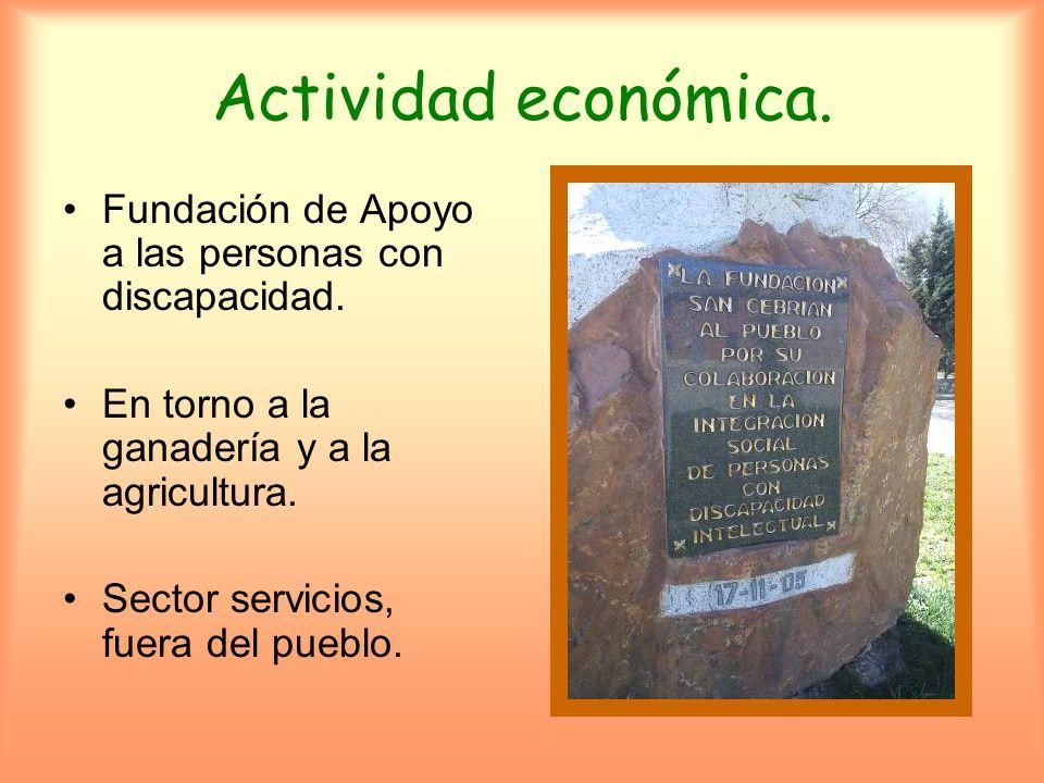 Actividad económica.Fundación de Apoyo a las personas con discapacidad.