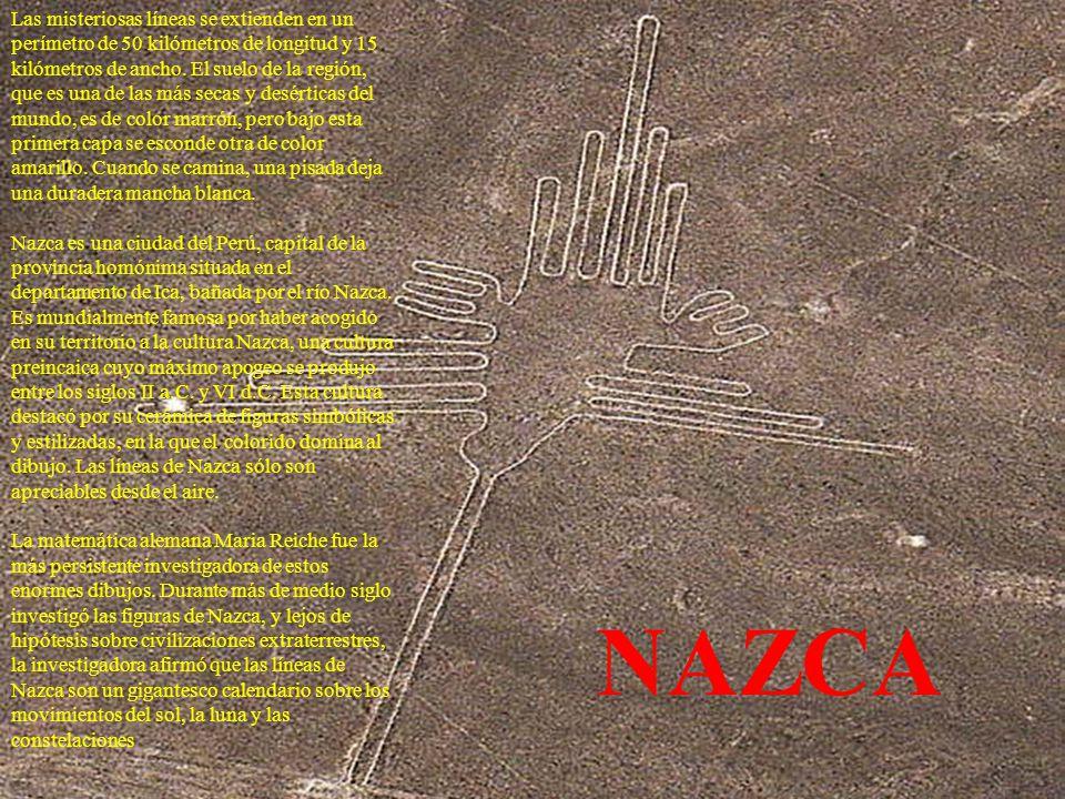 Las misteriosas líneas se extienden en un perímetro de 50 kilómetros de longitud y 15 kilómetros de ancho.