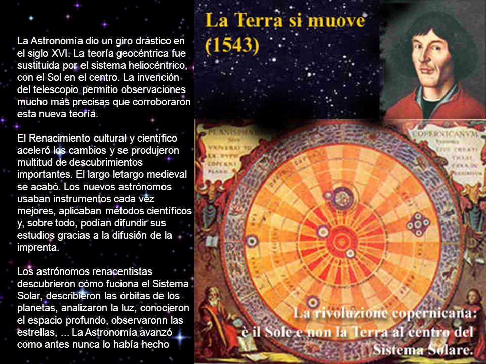 La Astronomía dio un giro drástico en el siglo XVI.