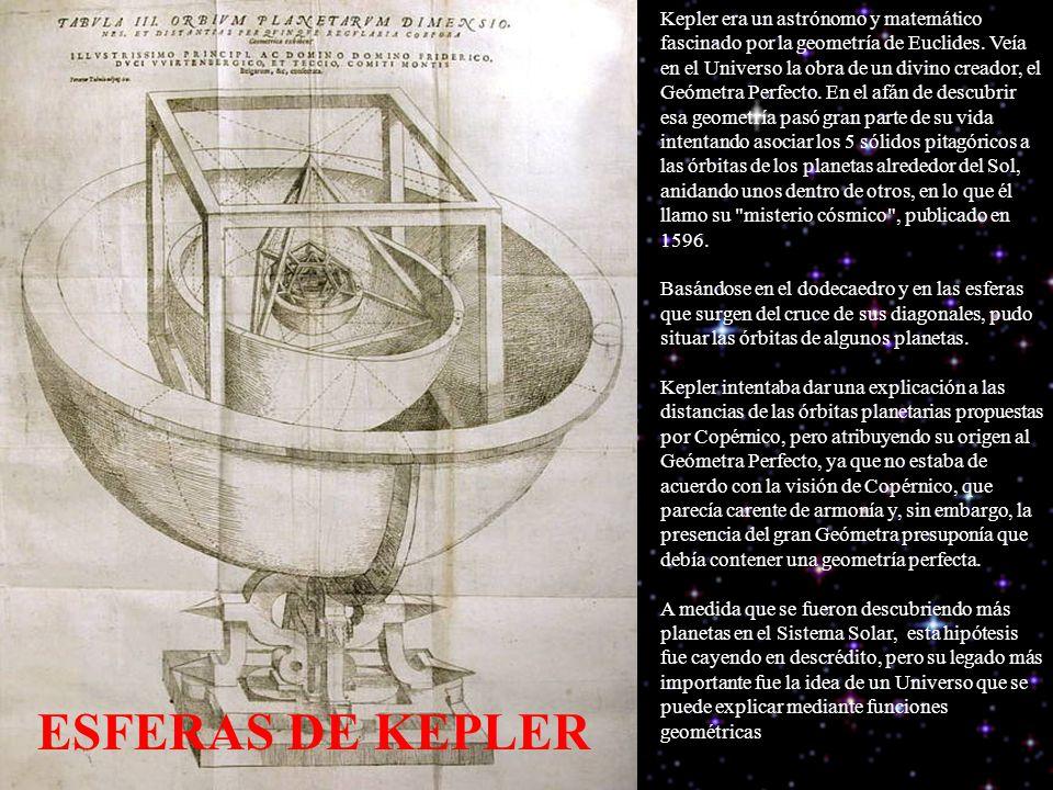 Kepler era un astrónomo y matemático fascinado por la geometría de Euclides.
