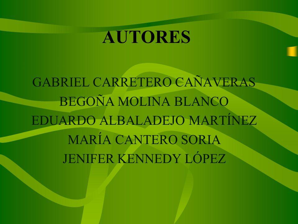 AUTORES GABRIEL CARRETERO CAÑAVERAS BEGOÑA MOLINA BLANCO EDUARDO ALBALADEJO MARTÍNEZ MARÍA CANTERO SORIA JENIFER KENNEDY LÓPEZ