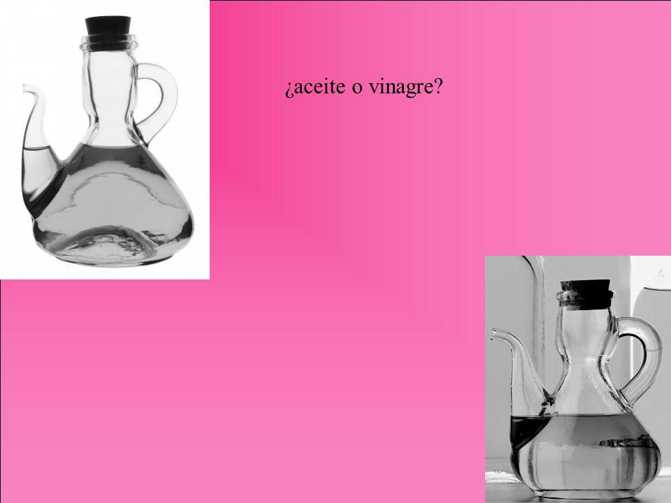 ¿aceite o vinagre?