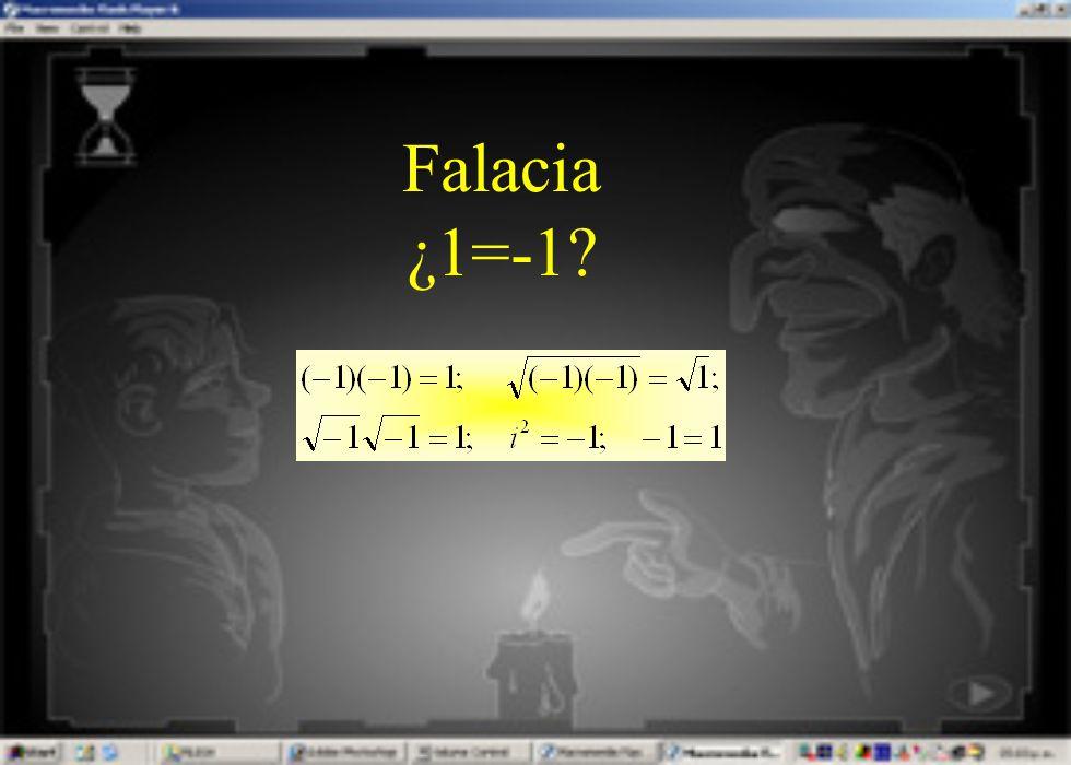 Falacia ¿1=-1?