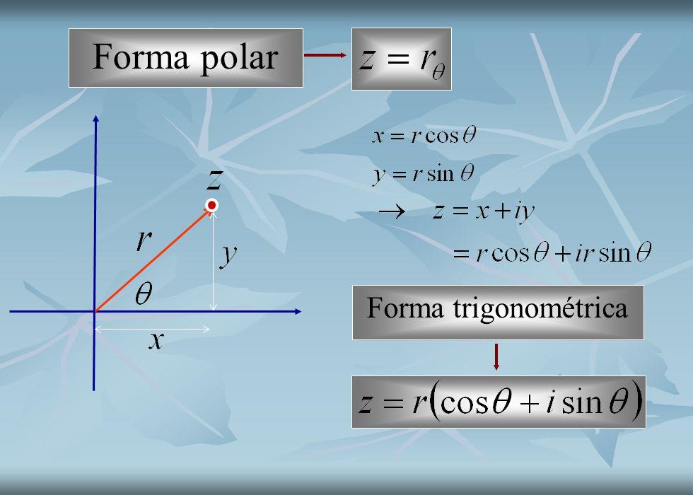 Forma polar Forma trigonométrica