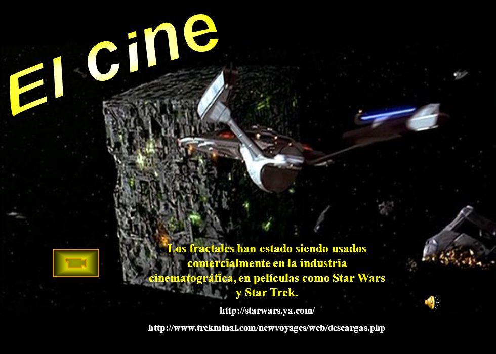 Los fractales han estado siendo usados comercialmente en la industria cinematográfica, en películas como Star Wars y Star Trek. http://starwars.ya.com