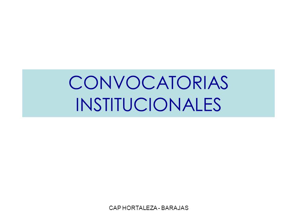 CAP HORTALEZA - BARAJAS CONVOCATORIAS INSTITUCIONALES