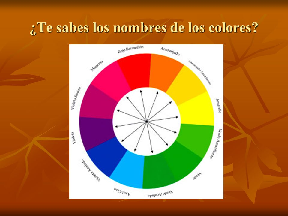¿Te sabes los nombres de los colores?