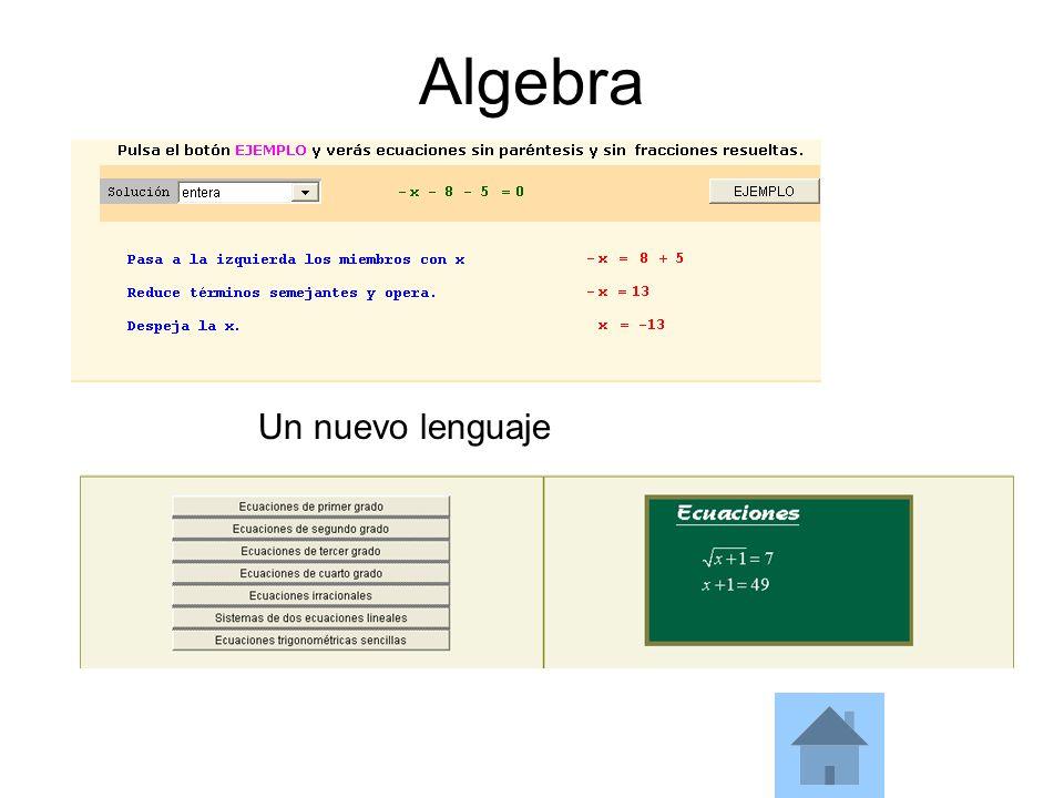 Algebra Un nuevo lenguaje