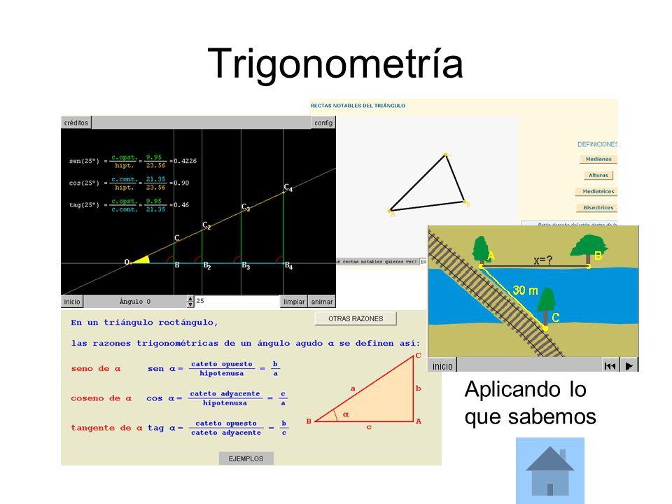 Trigonometría Aplicando lo que sabemos