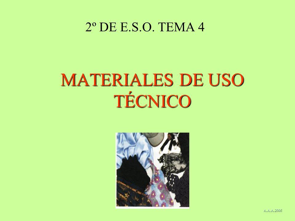 MATERIALES DE USO TÉCNICO 2º DE E.S.O. TEMA 4 A.A.A.2005