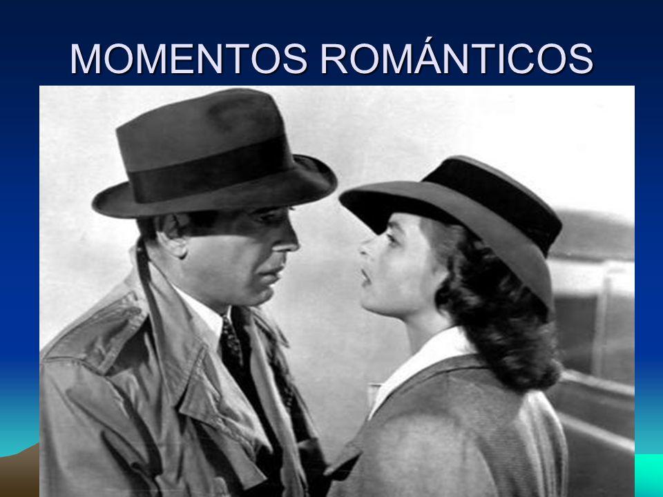 MOMENTOS ROMÁNTICOS Uno de los momentos que marcaron la segunda guerra mundial en el cine fue la emotiva y romántica despedida entre Humpfrey Bogart e