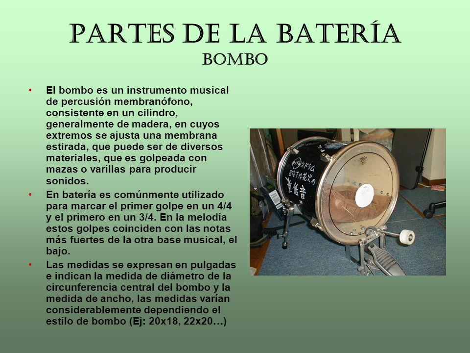 PARTES DE LA BATERÍA CAJA La caja según la clasificación es un membranófono cerrado, de dos membranas.