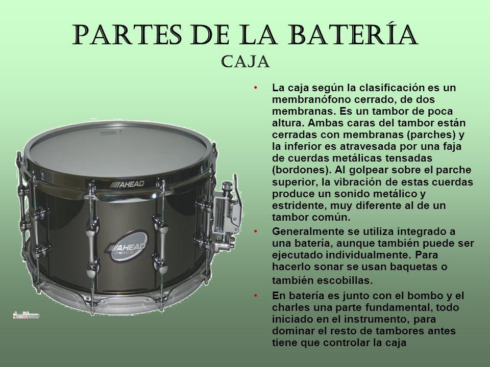 PARTES DE LA BATERÍA HI-HAT También llamado charles.