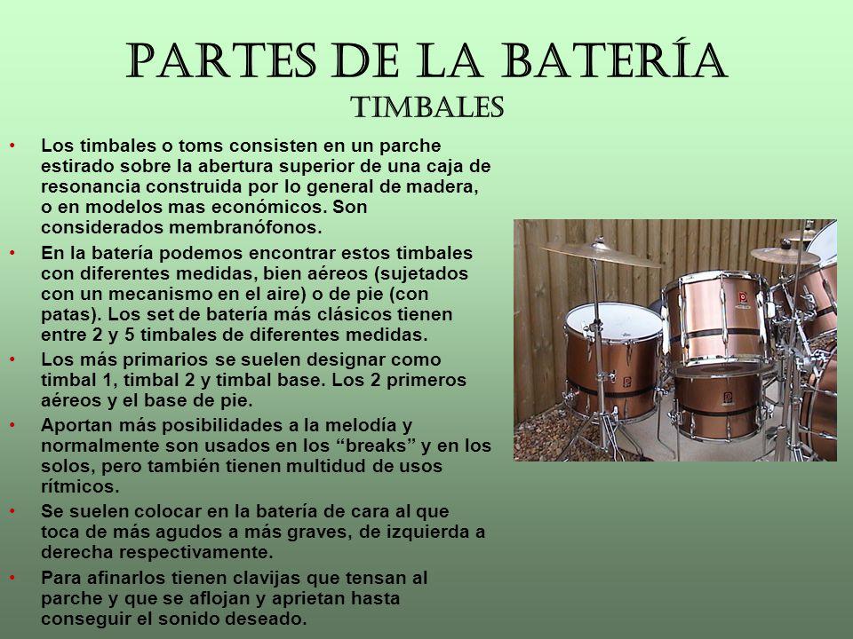 PARTES DE LA BATERÍA PLATOS Los platos en la batería son imprescindibles a la hora de tocar.