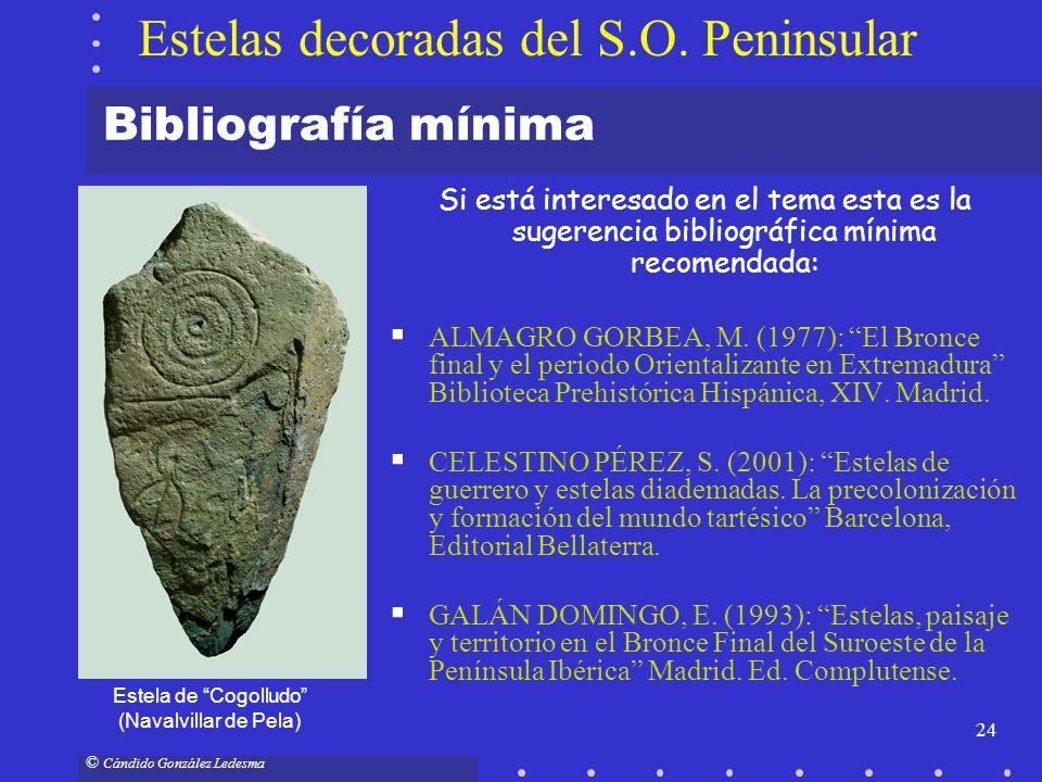 24 © Cándido González Ledesma Bibliografía mínima Si está interesado en el tema esta es la sugerencia bibliográfica mínima recomendada: ALMAGRO GORBEA