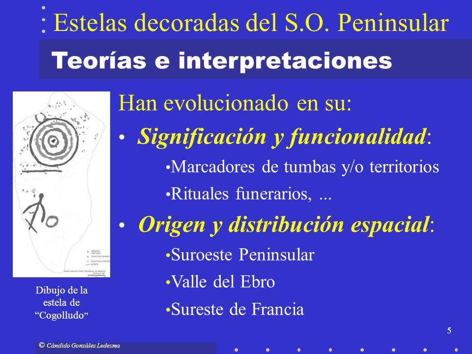 5 © Cándido González Ledesma Han evolucionado en su: Significación y funcionalidad: Marcadores de tumbas y/o territorios Rituales funerarios,... Orige