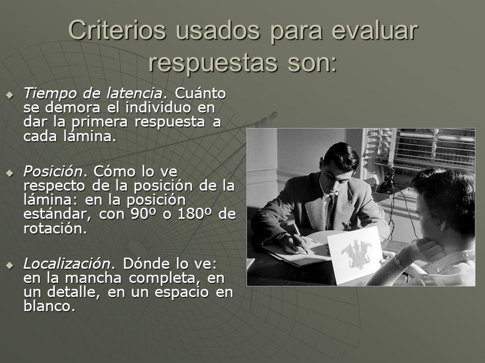 Criterios usados para evaluar respuestas son: Tiempo de latencia.