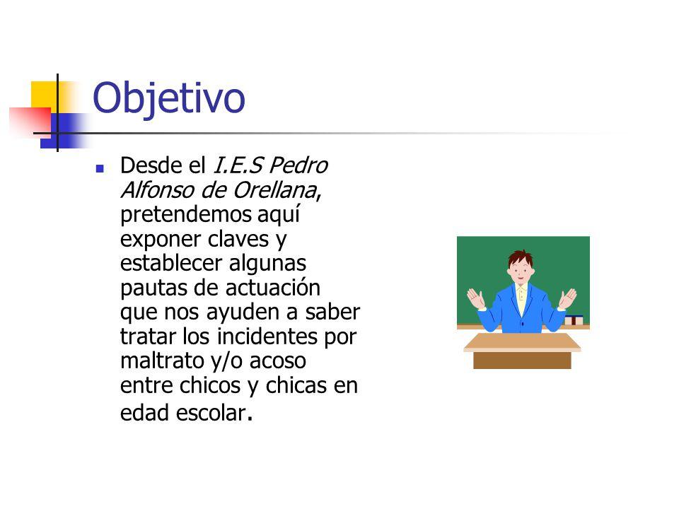 Objetivo Desde el I.E.S Pedro Alfonso de Orellana, pretendemos aquí exponer claves y establecer algunas pautas de actuación que nos ayuden a saber tra