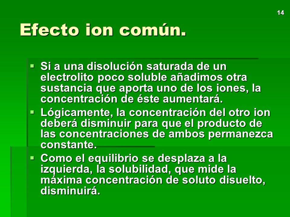 13 Factores que afectan a la solubilidad Además de la temperatura, existen otros factores que influyen en la solubilidad por afectar a la concentració