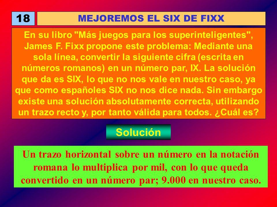 18 MEJOREMOS EL SIX DE FIXX En su libro