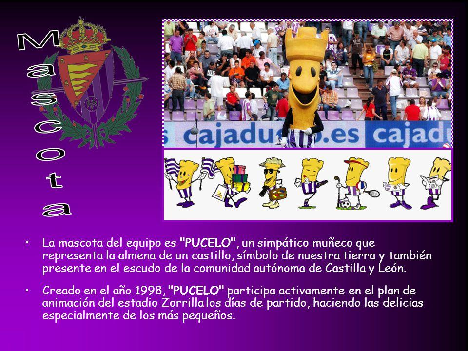 La mascota del equipo es PUCELO , un simpático muñeco que representa la almena de un castillo, símbolo de nuestra tierra y también presente en el escudo de la comunidad autónoma de Castilla y León.
