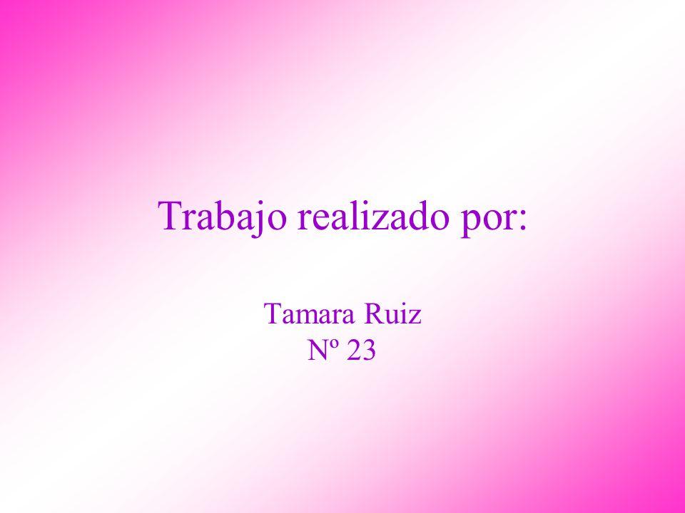 Trabajo realizado por: Tamara Ruiz Nº 23