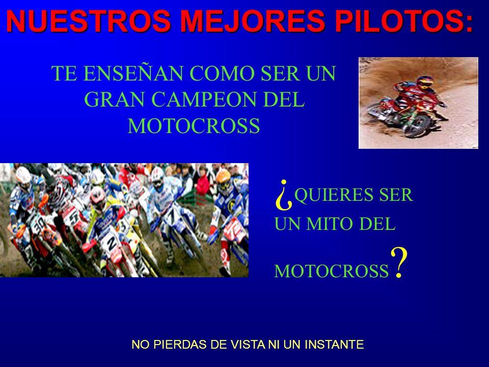 MITOS DEL MOTOCROSS... Nuestros mejores pilotos