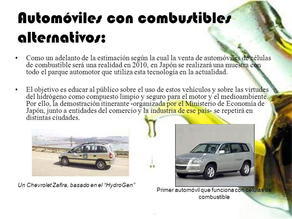 Automóviles con combustibles alternativos: Como un adelanto de la estimación según la cual la venta de automóviles de células de combustible será una