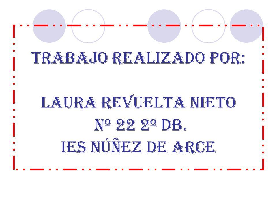 TRABAJO REALIZADO POR: LAURA REVUELTA NIETO Nº 22 2º DB. IES Núñez de arce