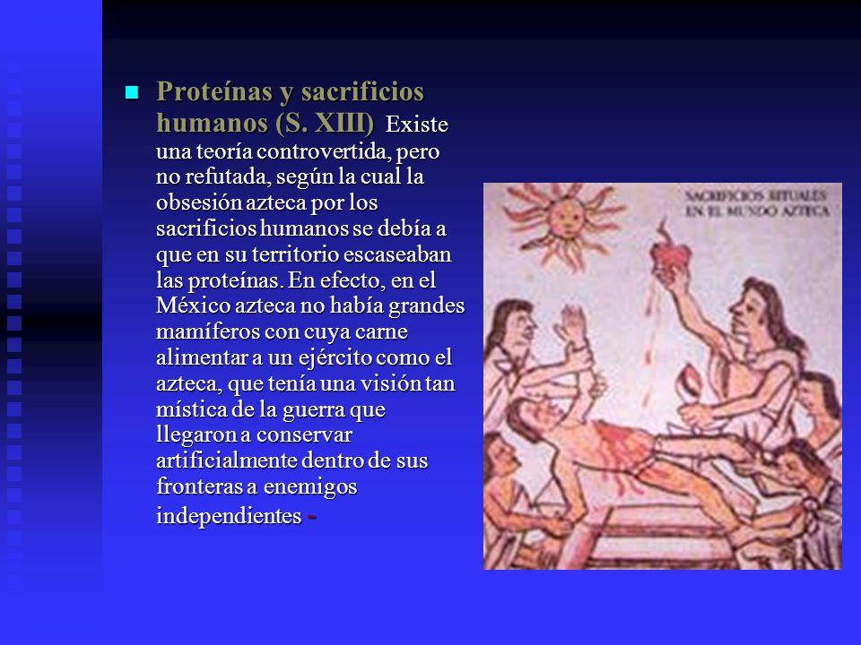 Proteínas y sacrificios humanos (S.