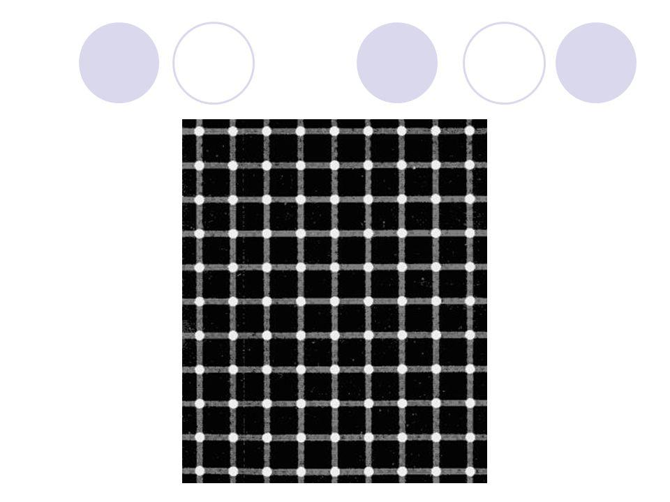 Esta matriz está formada por líneas que se cruzan en puntos blancos. Aunque parece que también hay puntos negros. Pero si los miras se vuelven blancos
