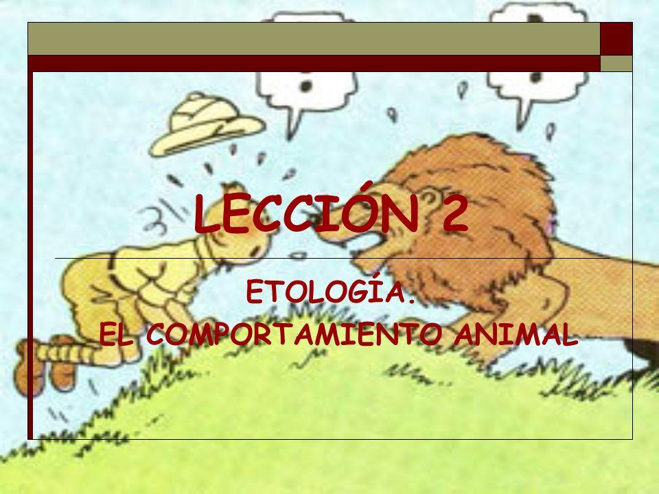 LECCIÓN 2 ETOLOGÍA. EL COMPORTAMIENTO ANIMAL