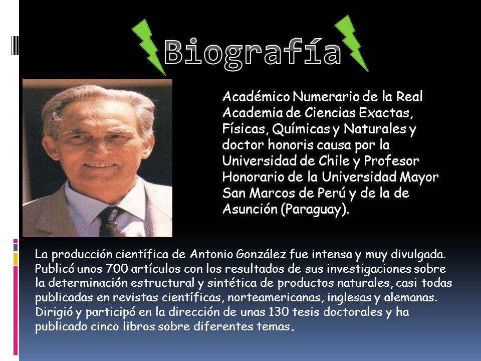 Académico Numerario de la Real Academia de Ciencias Exactas, Físicas, Químicas y Naturales y doctor honoris causa por la Universidad de Chile y Profes