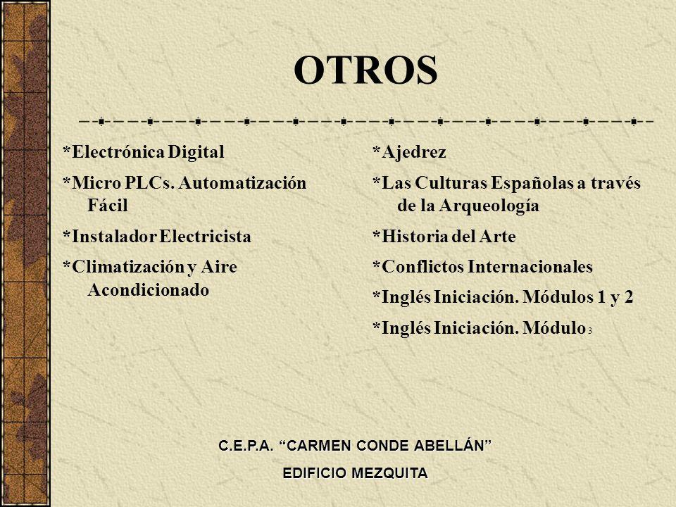 OTROS *Electrónica Digital *Micro PLCs. Automatización Fácil *Instalador Electricista *Climatización y Aire Acondicionado *Ajedrez *Las Culturas Españ