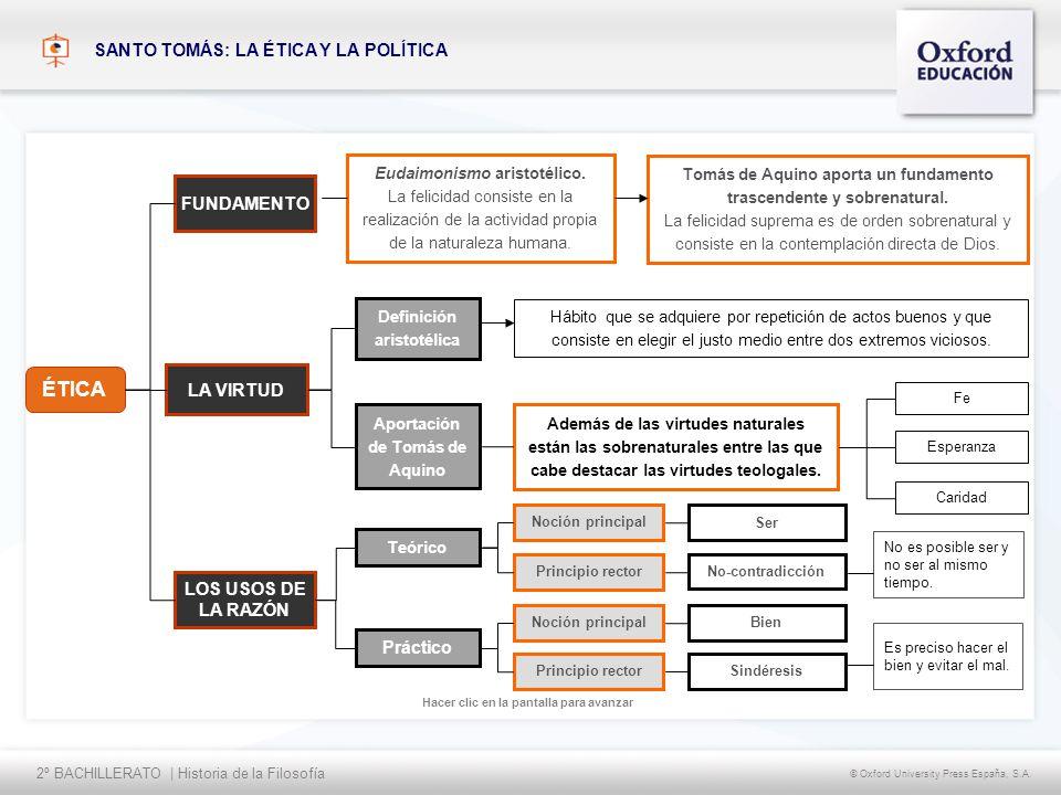 2º BACHILLERATO   Historia de la Filosofía © Oxford University Press España, S.A.