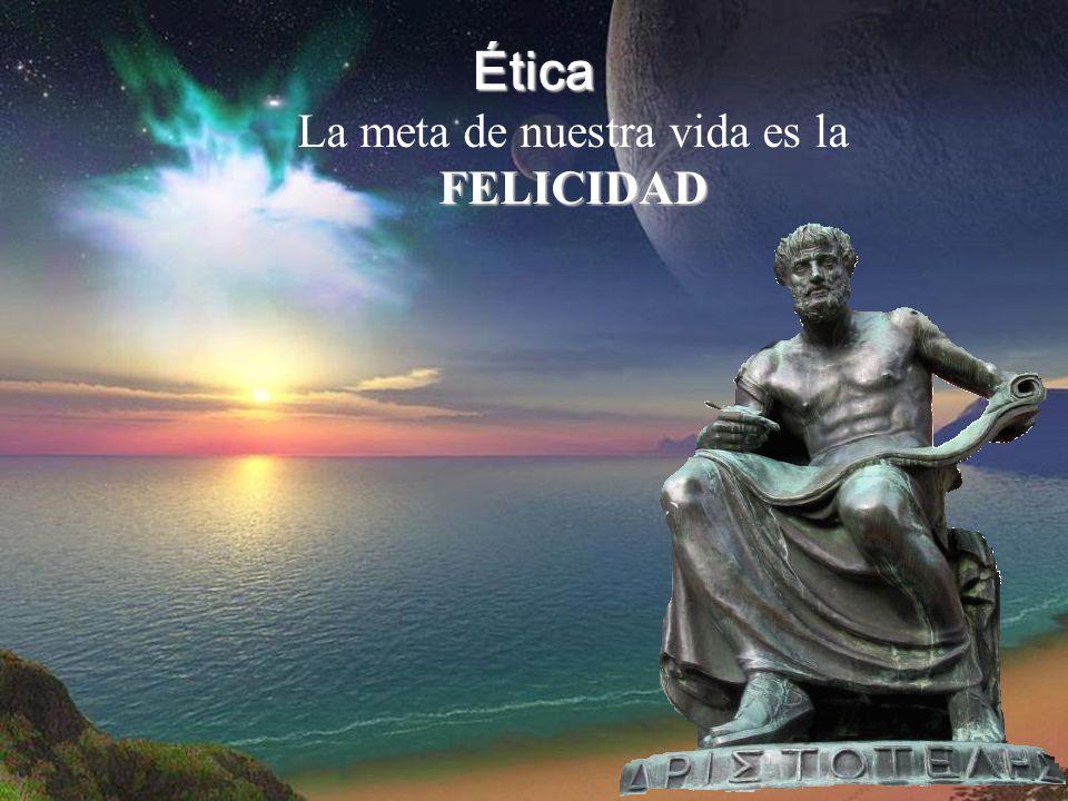 Ética FELICIDAD La meta de nuestra vida es la FELICIDAD