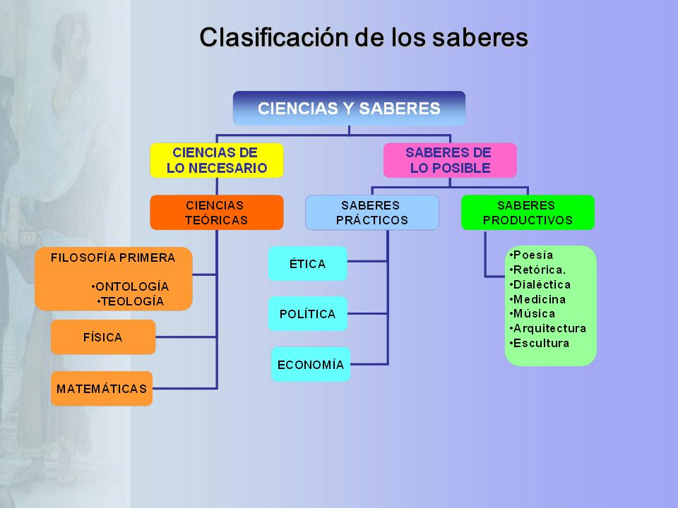 Clasificación de los saberes