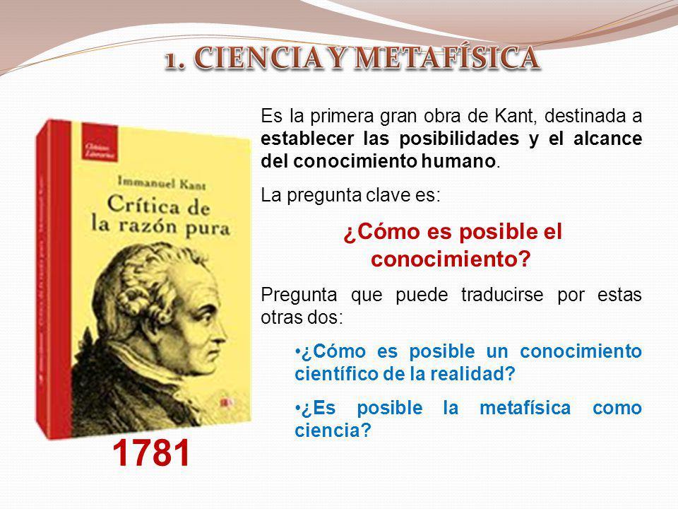 Es la primera gran obra de Kant, destinada a establecer las posibilidades y el alcance del conocimiento humano. La pregunta clave es: ¿Cómo es posible