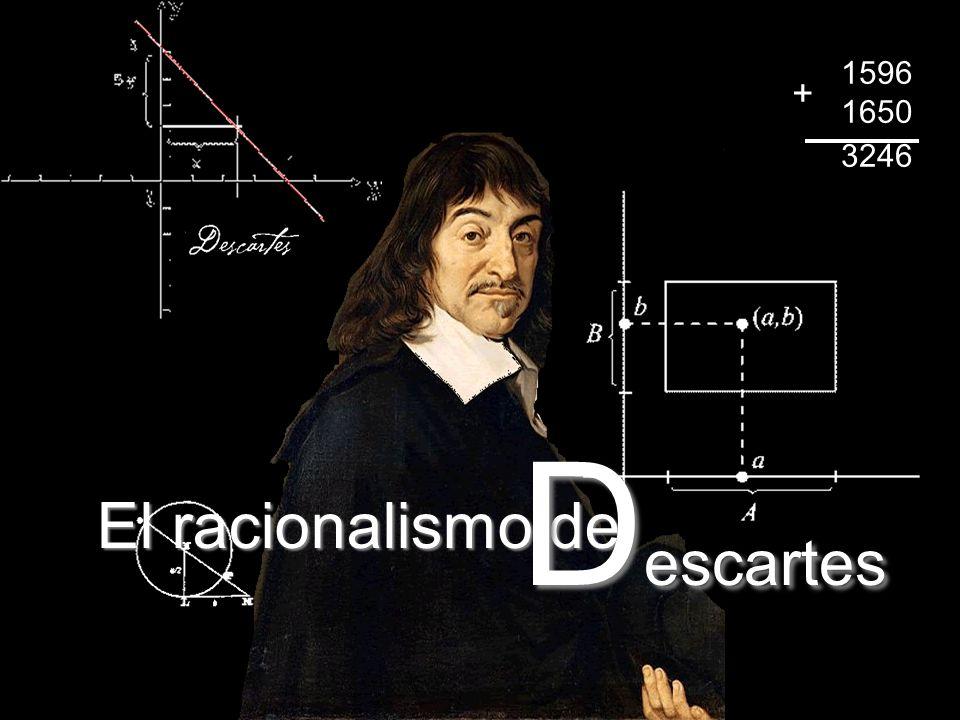 El racionalismo de D escartes 1596 1650 3246 +