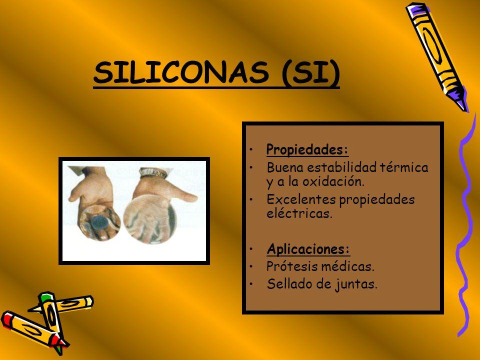 POLIURETANOS (PUR) Propiedades: Son duros, resistentes a la abrasión y flexibles. Pueden presentar también la forma de espuma. Aplicaciones: Prendas d