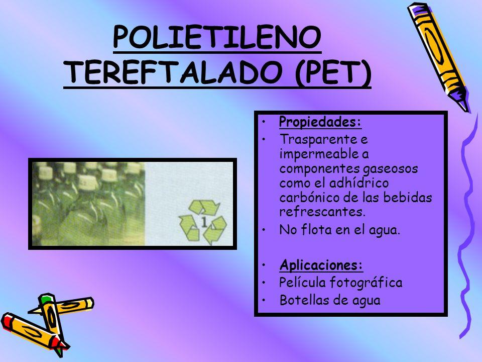POLIESTIRENO (PS) Propiedades: Transparente, inodoro, insípido, y relativamente frágil. Se pueden modificar sus propiedades para fabricar Poliestireno