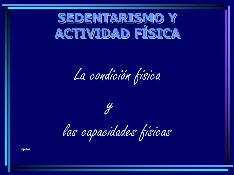 SEDENTARISMO Y ACTIVIDAD FÍSICA La condición física y las capacidades físicas inicio