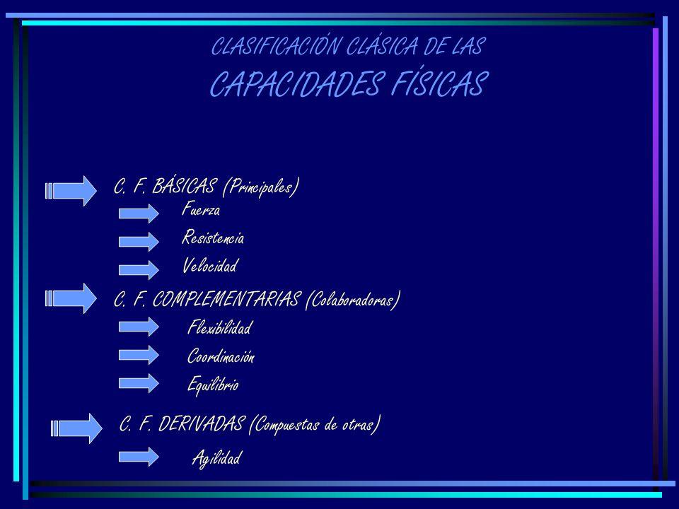 CLASIFICACIÓN CLÁSICA DE LAS CAPACIDADES FÍSICAS C.