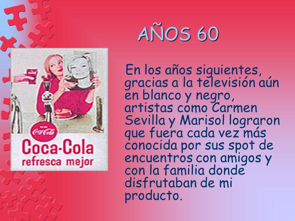 AÑOS 60 En los años siguientes, gracias a la televisión aún en blanco y negro, artistas como Carmen Sevilla y Marisol lograron que fuera cada vez más