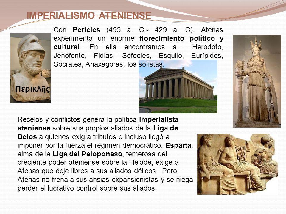 GUERRA DEL PELOPONESO (431–404 A.C.) A la muerte de Pericles (429 a.