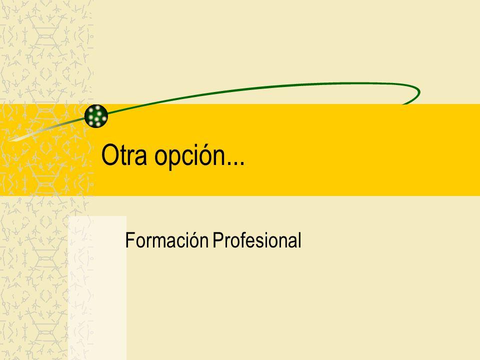 Otra opción... Formación Profesional