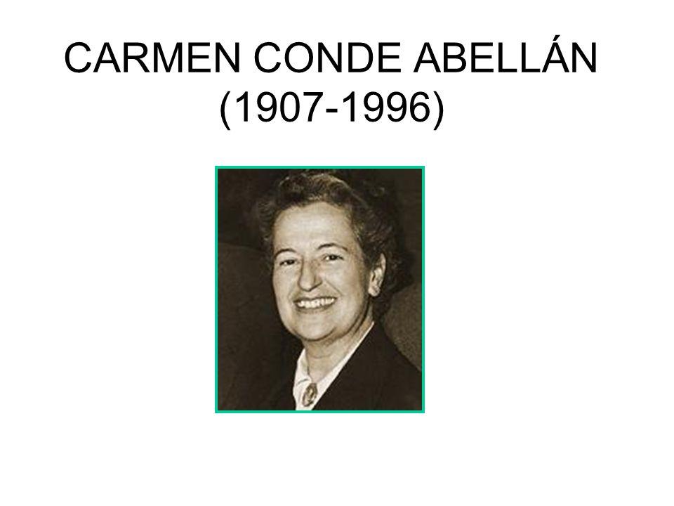 CARMEN CONDE ABELLÁN (1907-1996)