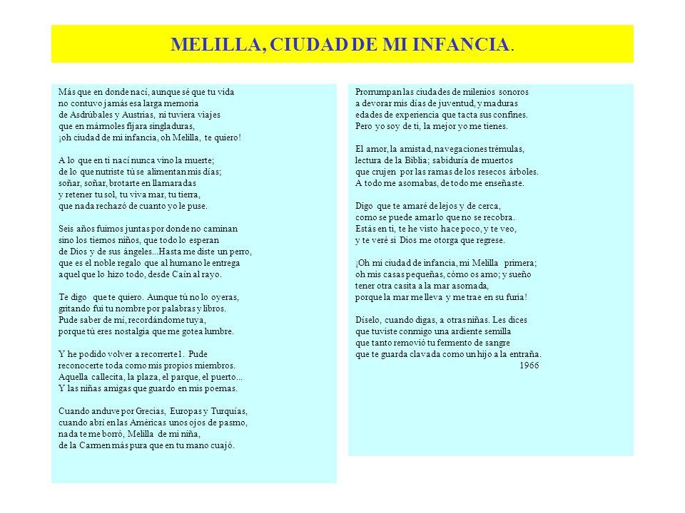 De su primer libro, editado en 1929:Brocal En 1920, Carmen regresa a Cartagena.