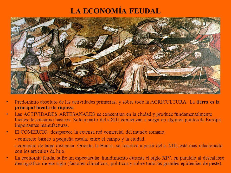 LA ECONOMÍA FEUDAL Predominio absoluto de las actividades primarias, y sobre todo la AGRICULTURA.